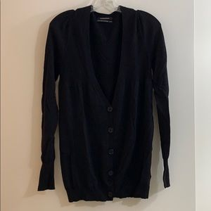 Club Monaco black knit cardigan